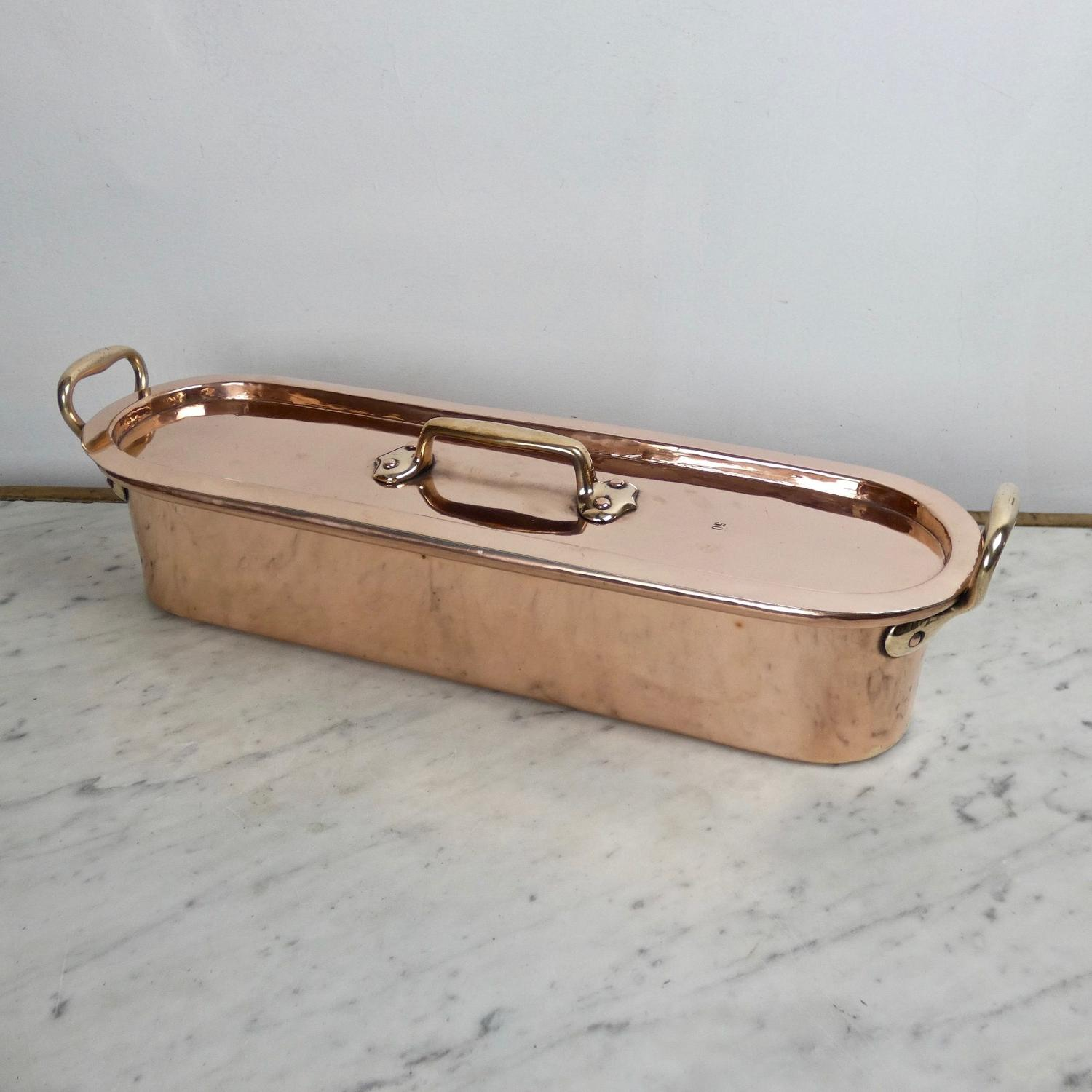 Small, French copper salmon kettle