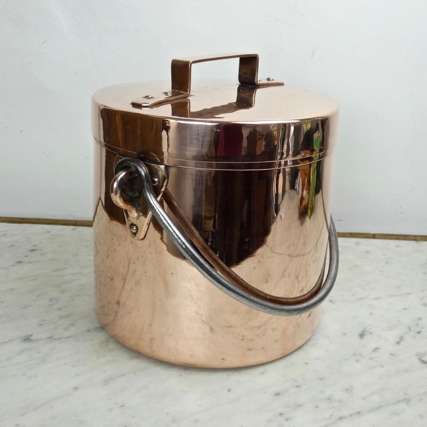 Large, French hanging cookpot