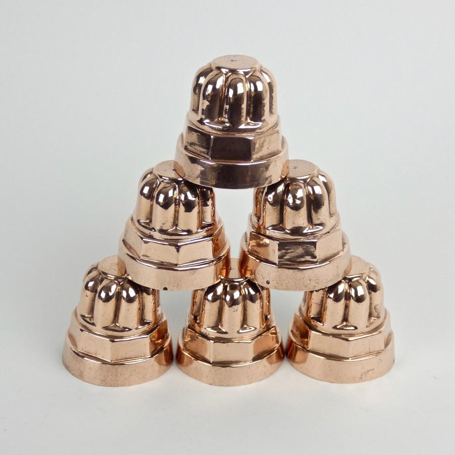 Miniature, Victorian copper moulds