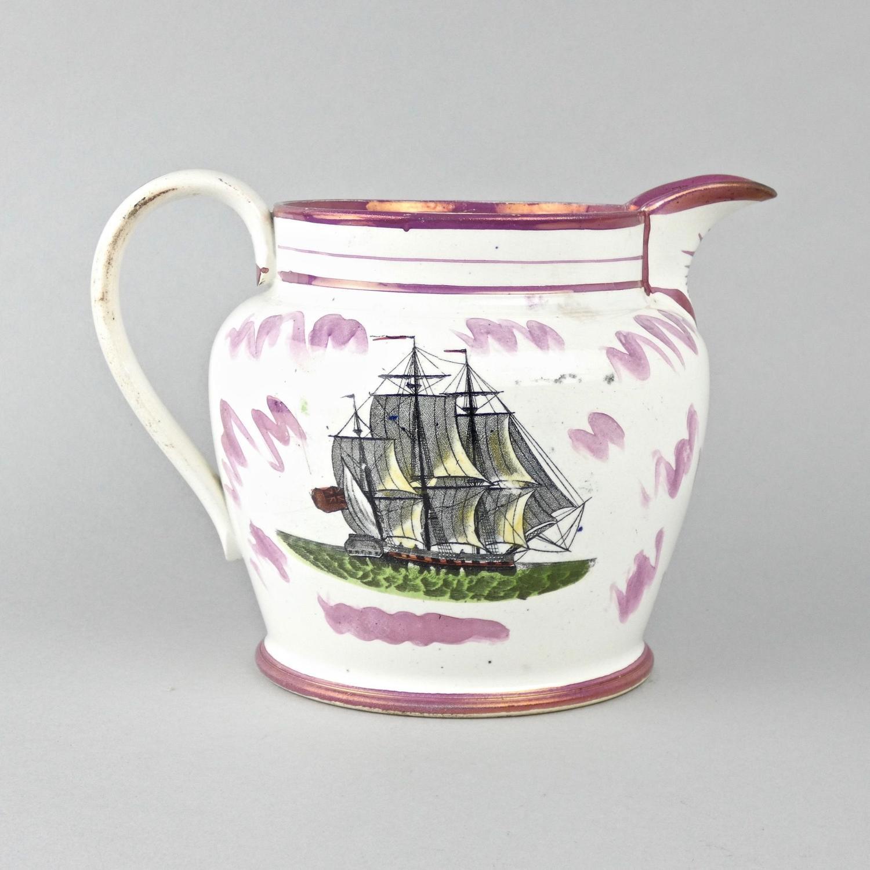 'Sailors Farewell' Sunderland lustre jug.
