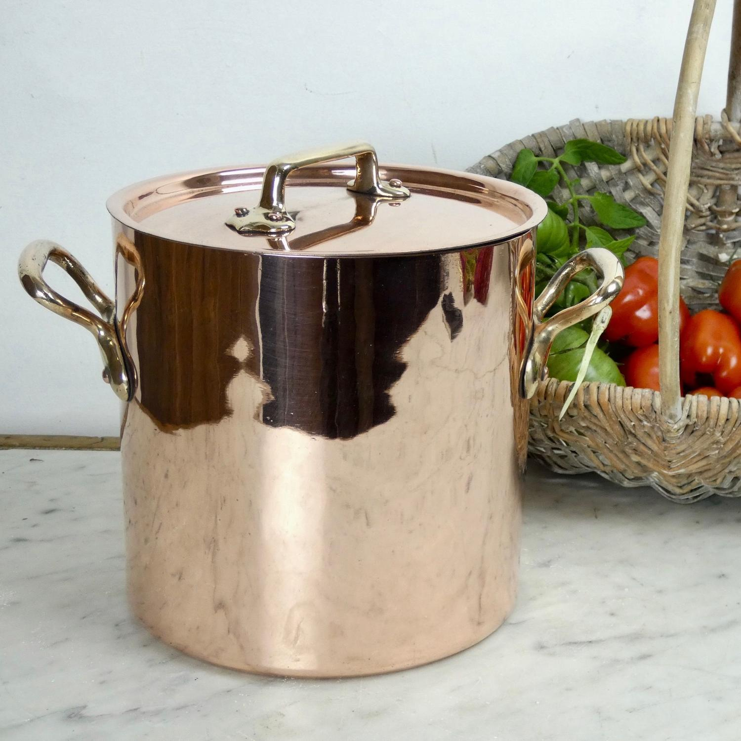 Small, French copper stockpot
