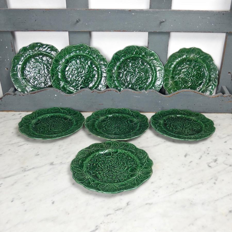 8 Majolica plates