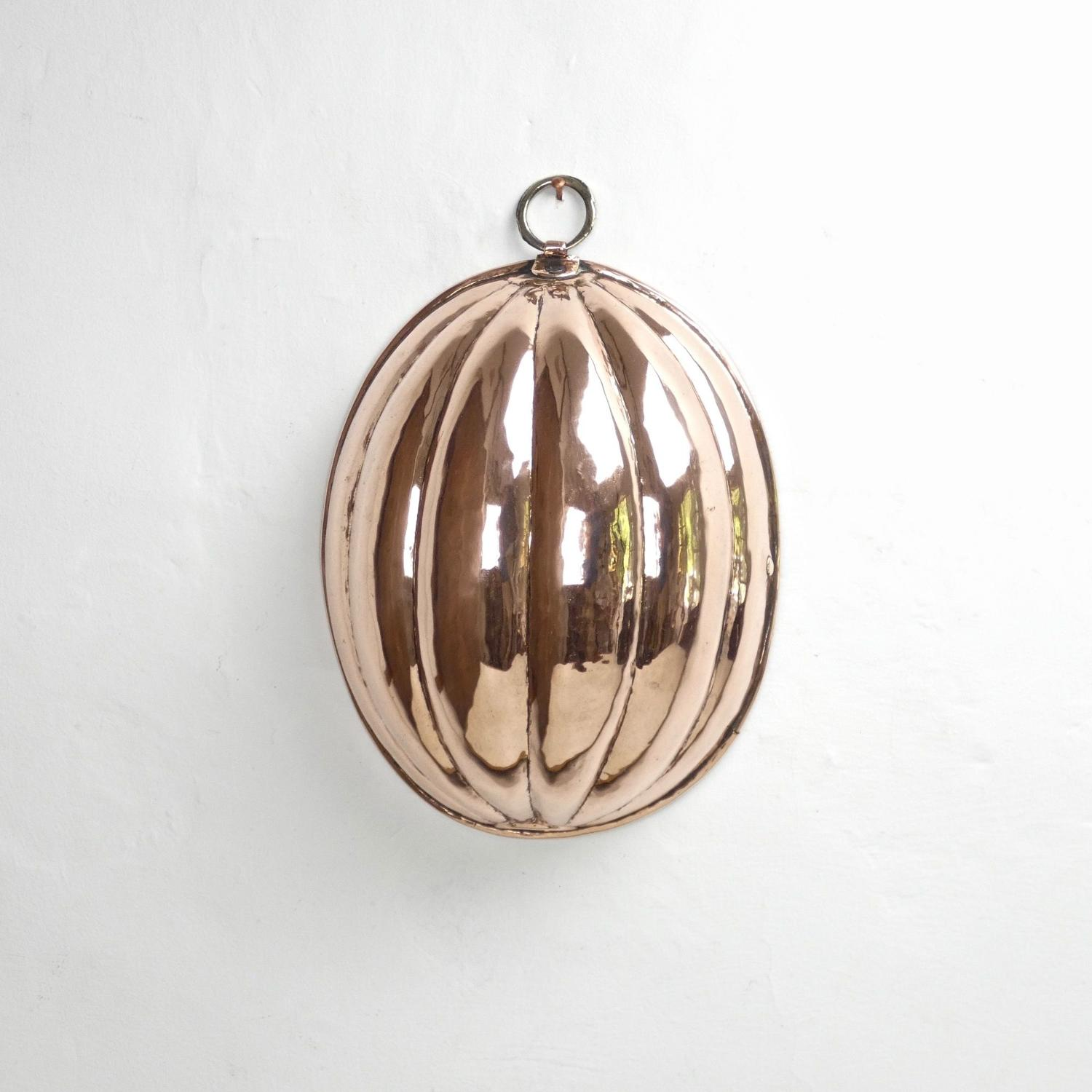 Copper melon mould