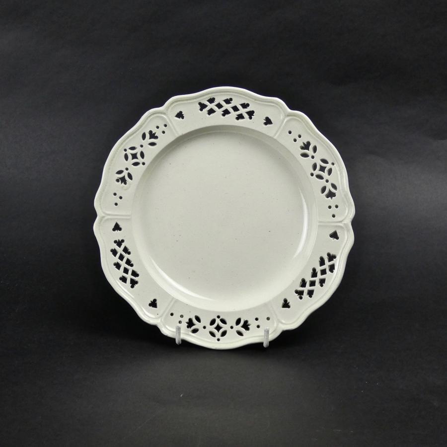18th century, pierced creamware plate