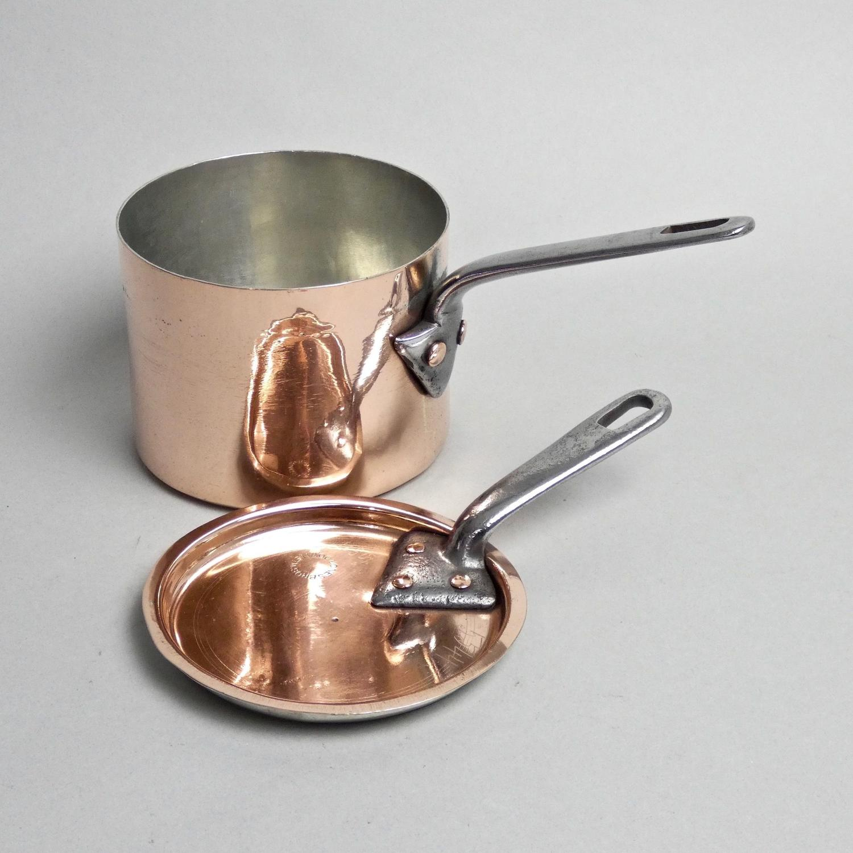 Very small, English copper saucepan