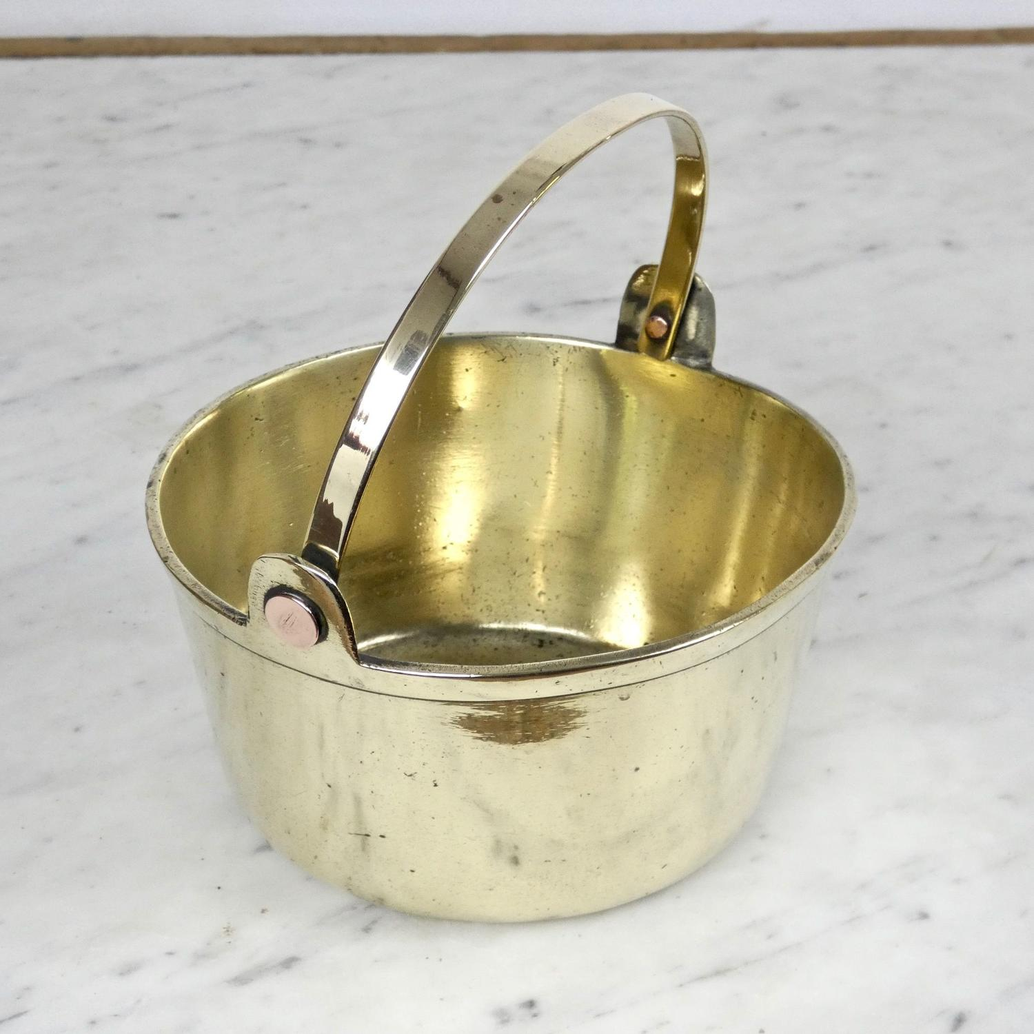 Small, Victorian, brass jam pan