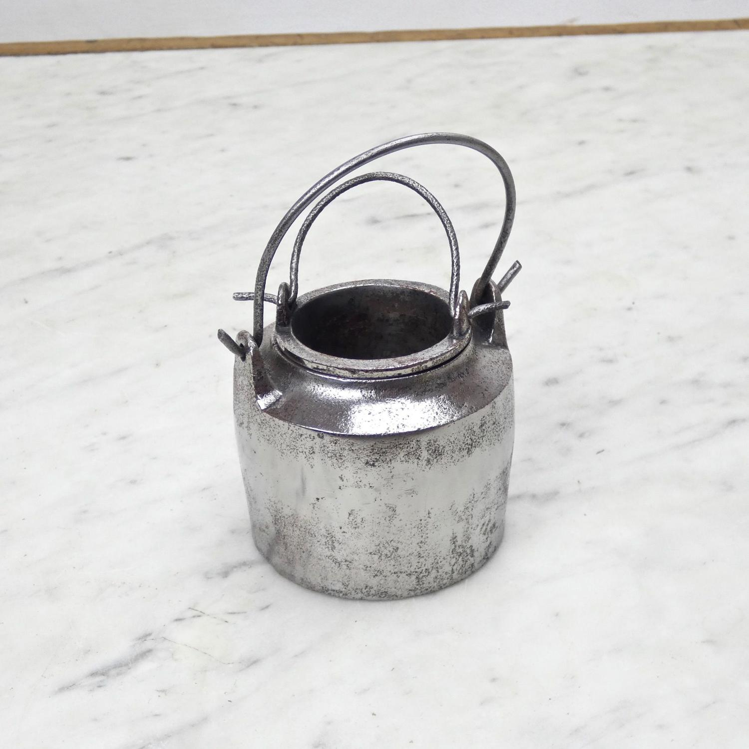 Very small, cast iron glue pot