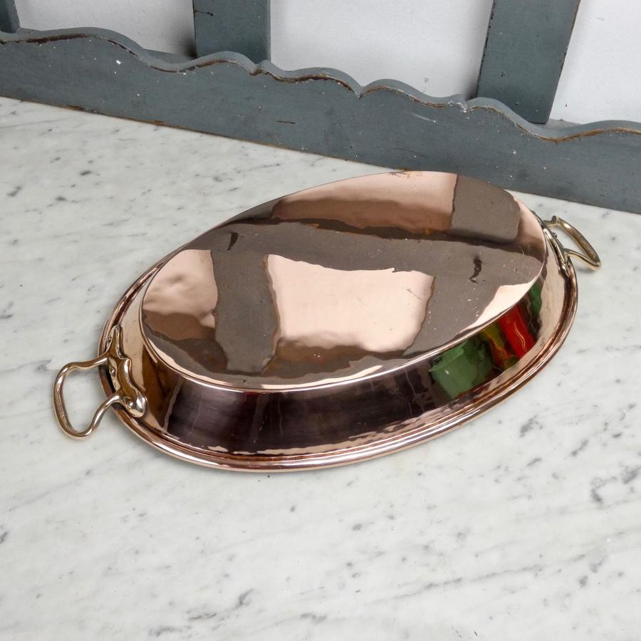 Large copper baking dish