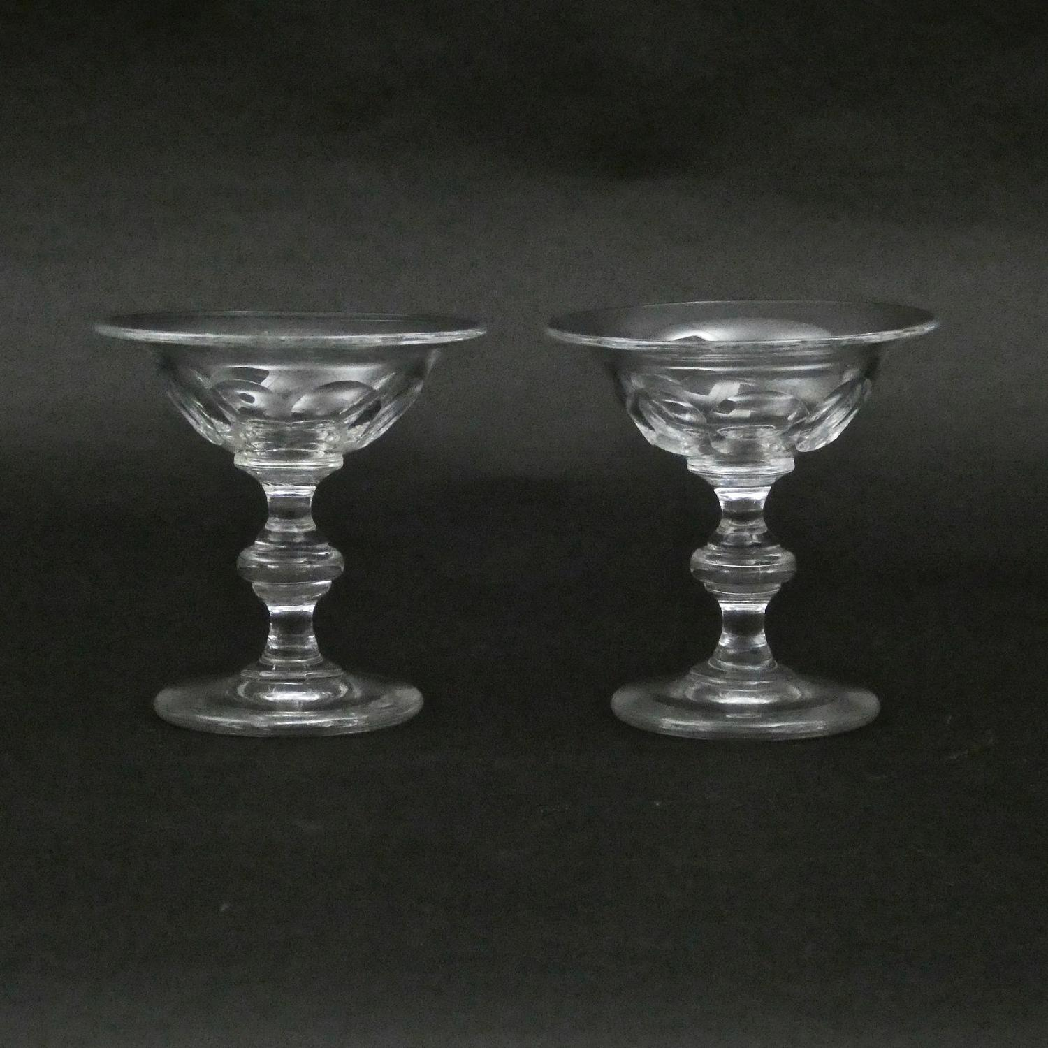 Pair of crystal table salts