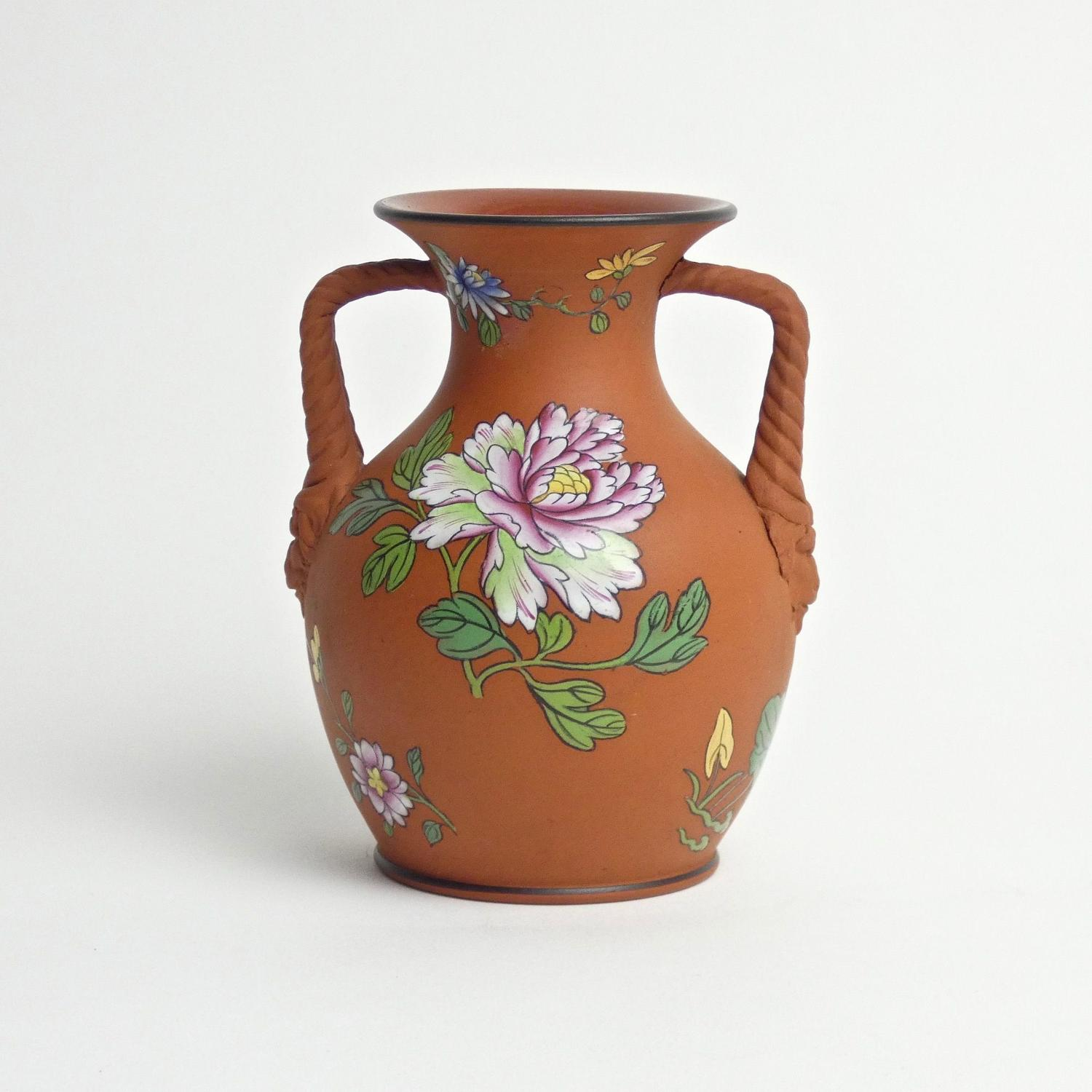 Wedgwood Capriware on terracotta vase