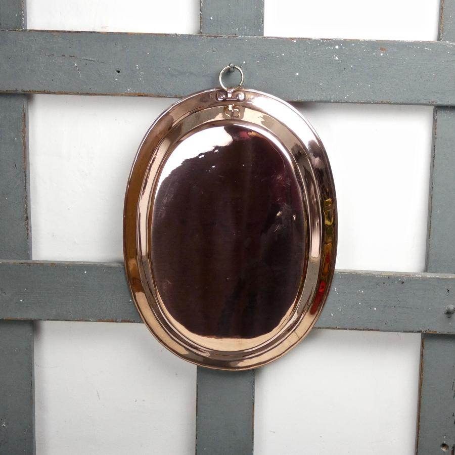 Unusual shaped, copper pie plate
