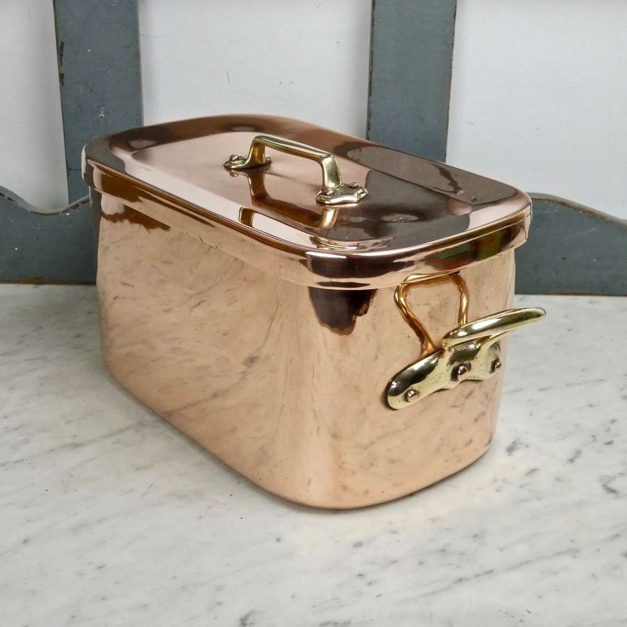 Quality French copper casserole