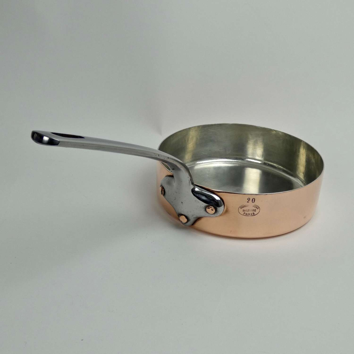 French copper cutlet pan