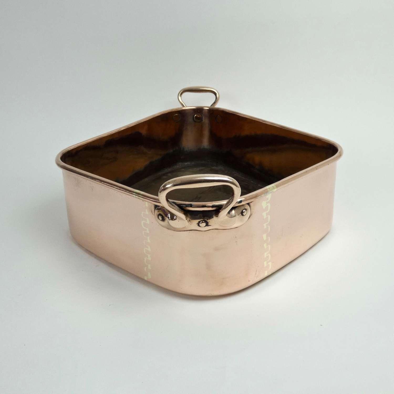 Decorative copper turbotiere