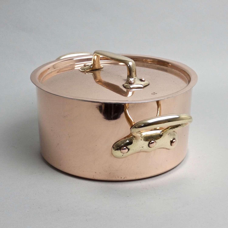 Small, French copper casserole