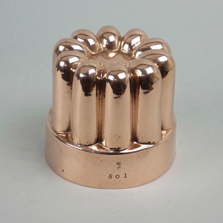 Benhams, fluted copper mould