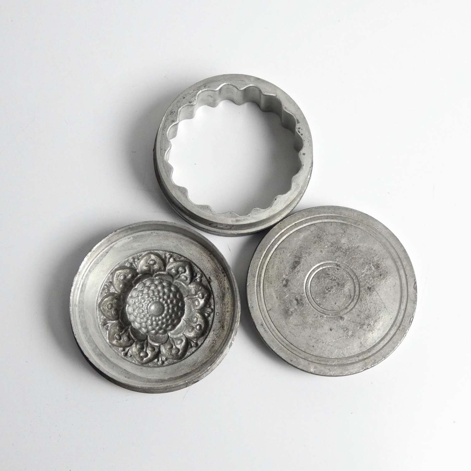Rare, pewter, flower topped mould