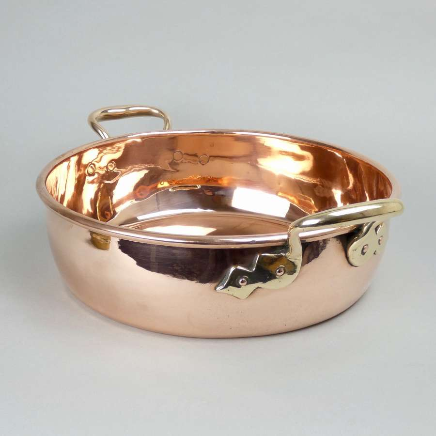 English copper preserve pan