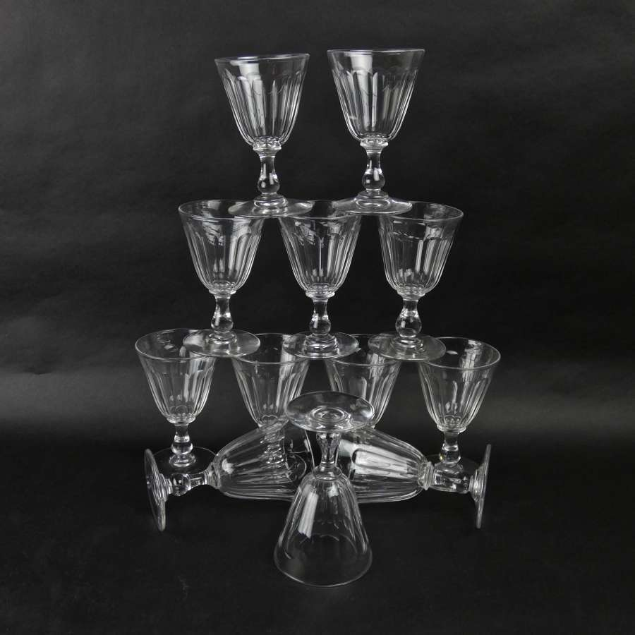 12 Baccarat wine glasses