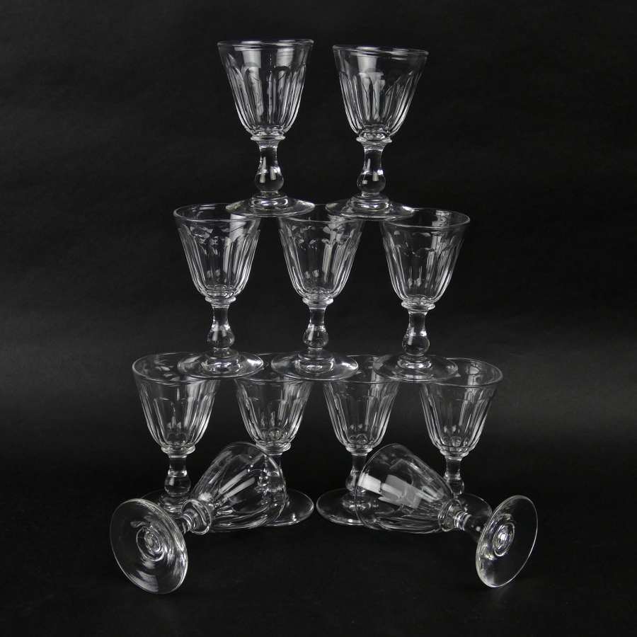 11 Baccarat port glasses