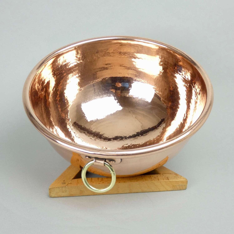 Small copper egg bowl
