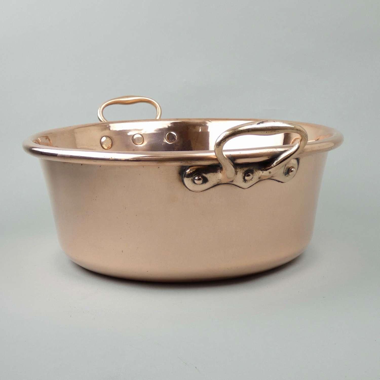 Deep copper preserve pan