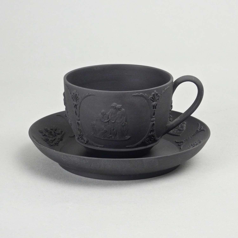 Basalt cup and saucer