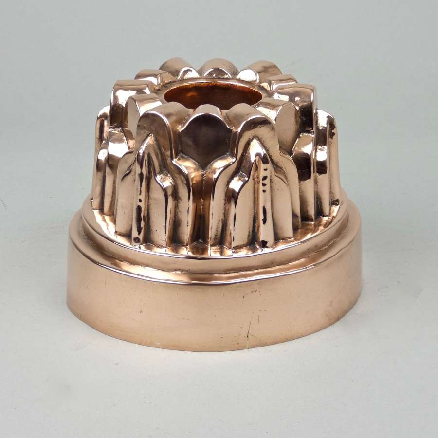 Decorative Victorian copper mould