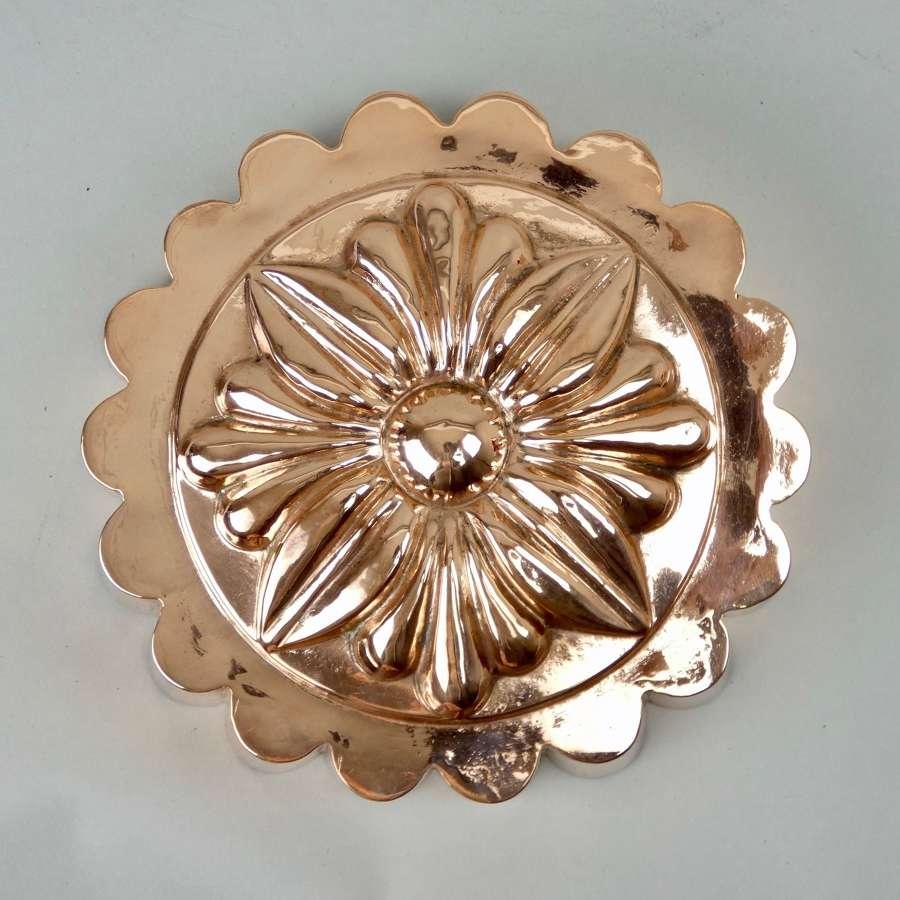 Fabulous 'sunflower' copper mould