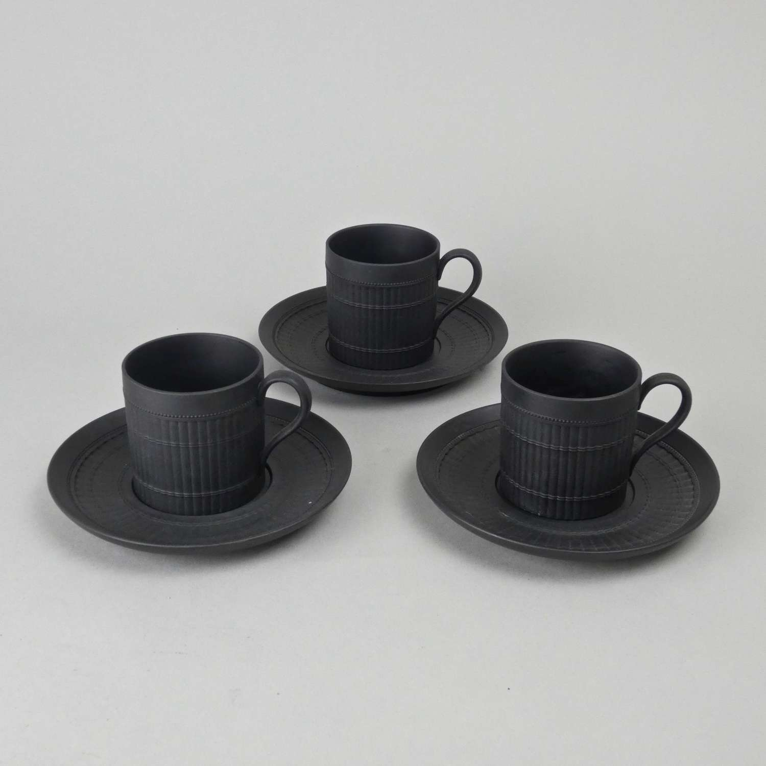 Bamboo design cups and saucers