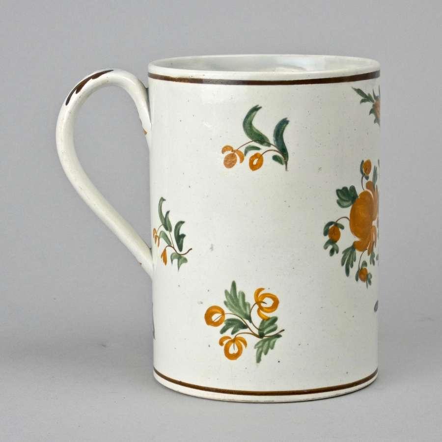 Colourful prattware mug