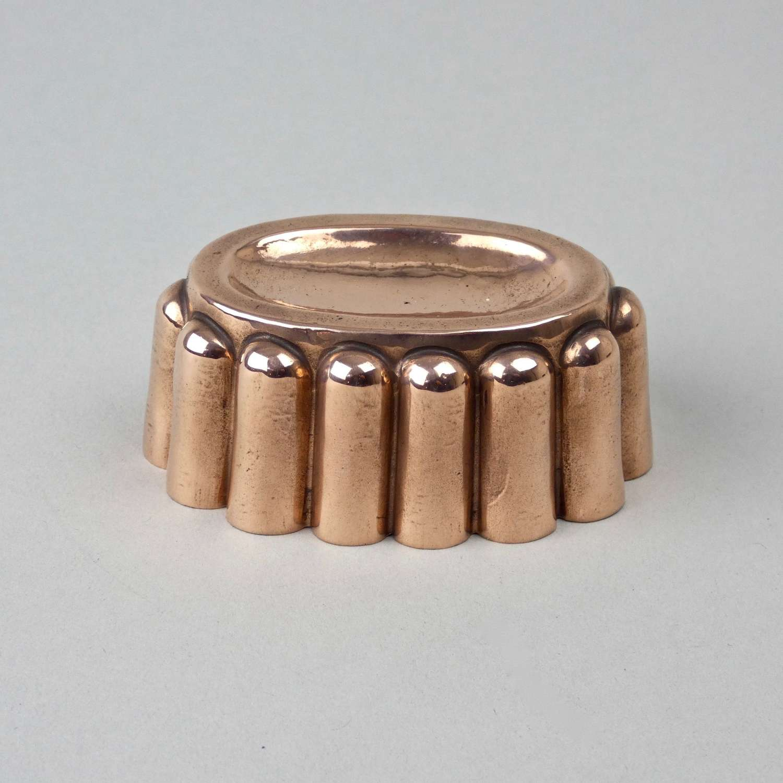 Miniature oval copper mould