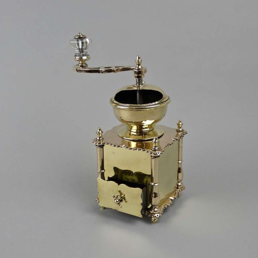 Stunning brass coffee mill