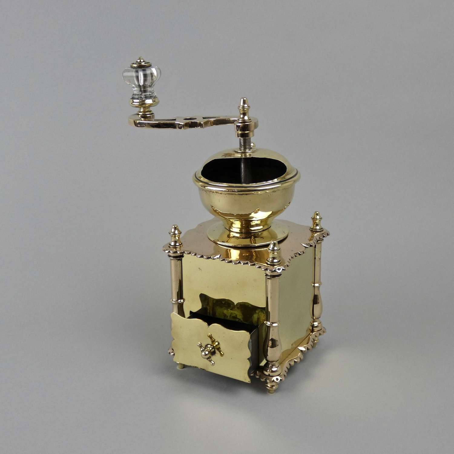 Stunning brass coffee mill