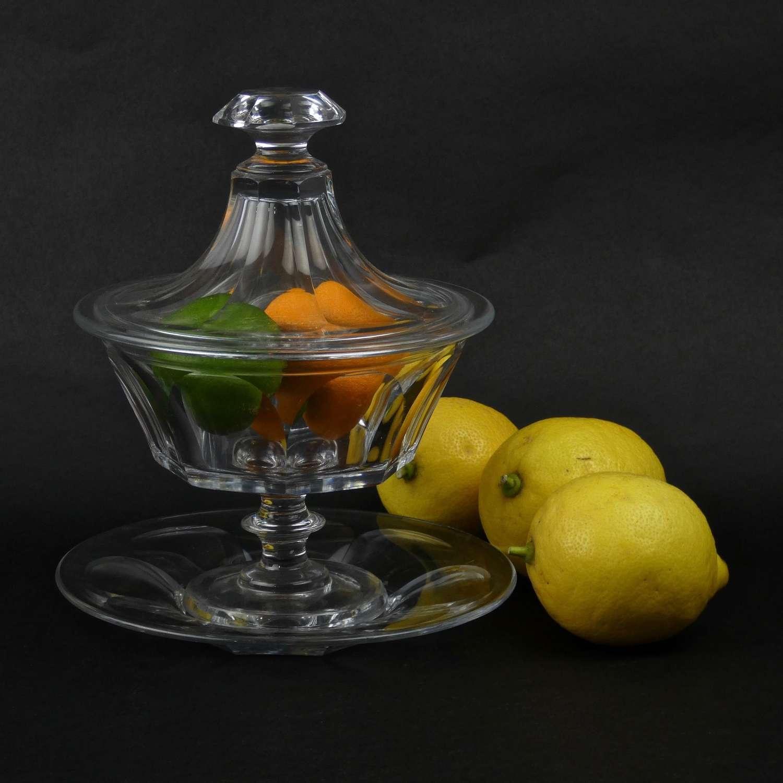 French crystal bonboniere