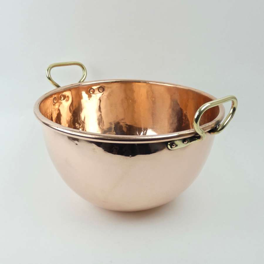 French copper sugar bowl
