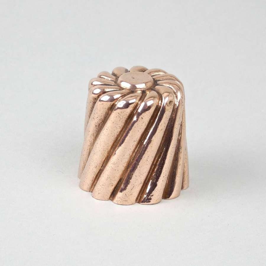 Miniature, wrythen dariole mould