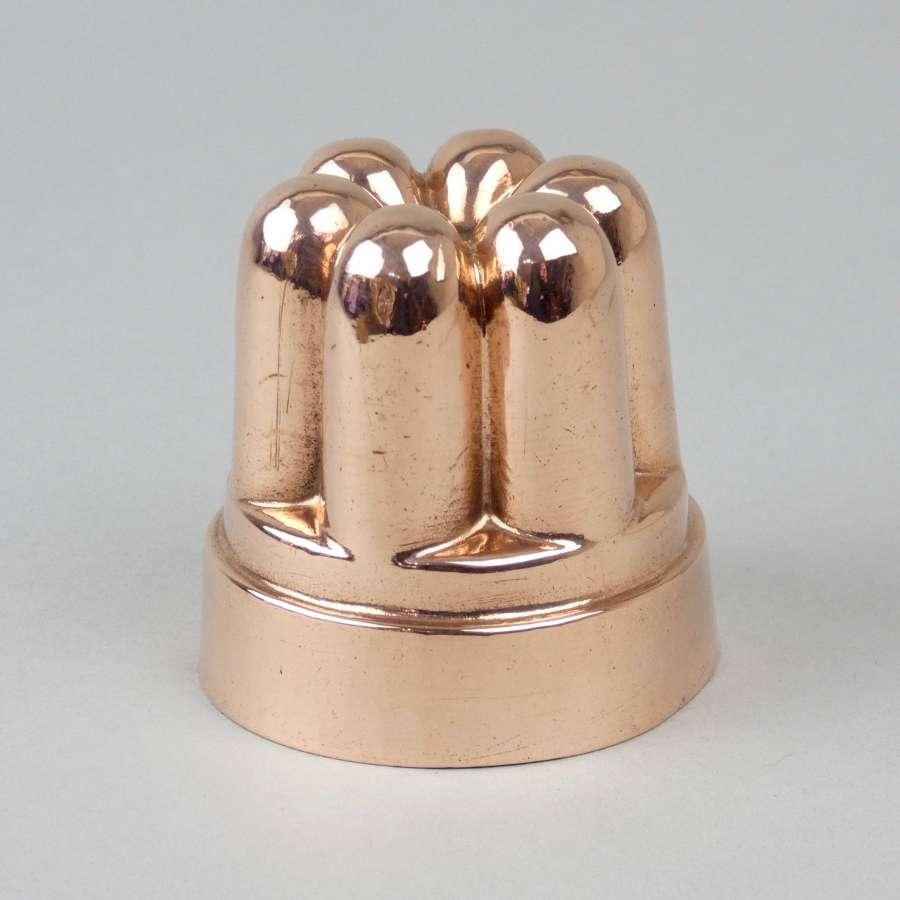 Miniature, fluted, copper mould