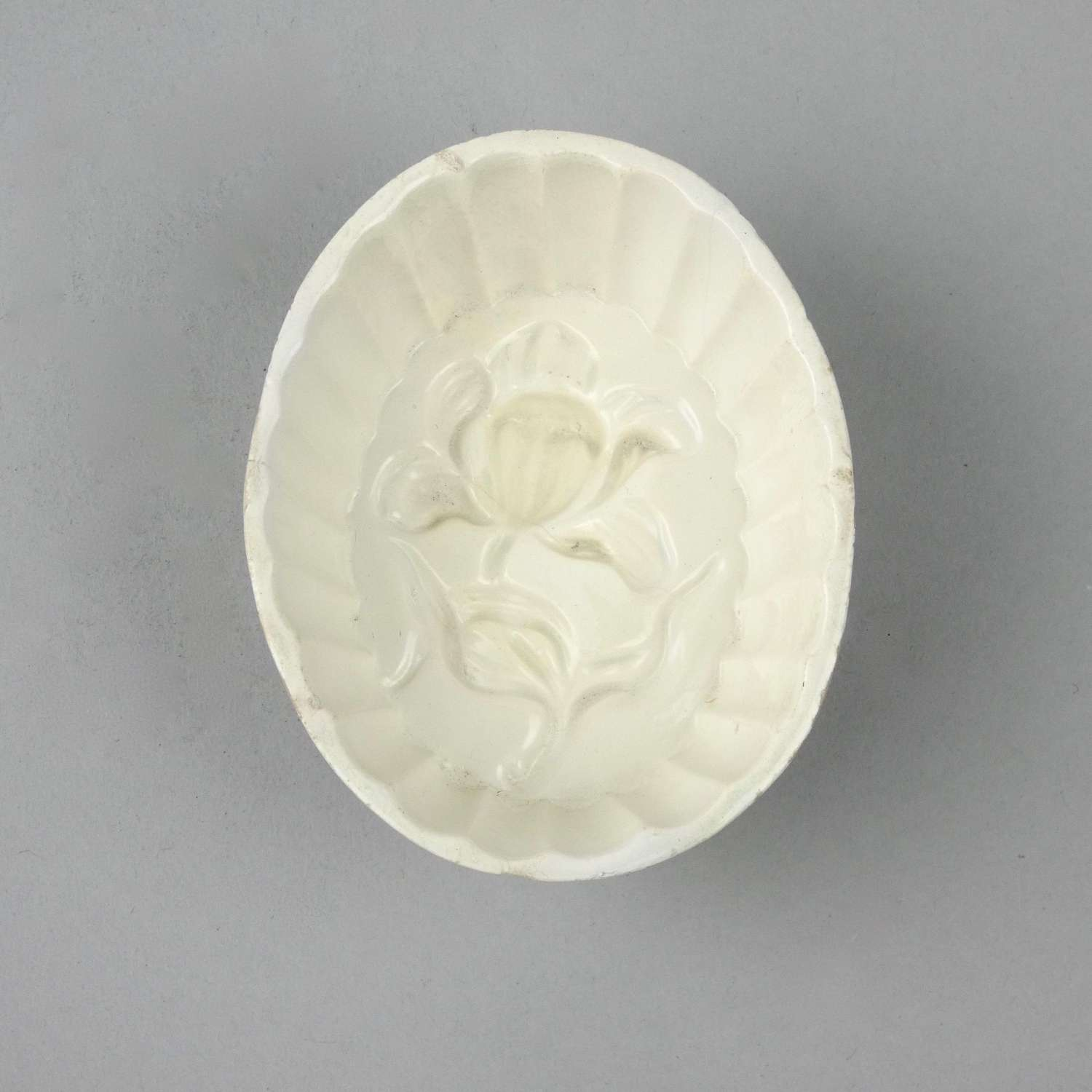 Creamware mould of orchid