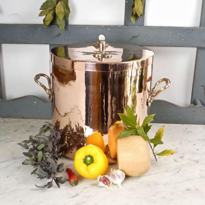 Large, decorative French stockpot