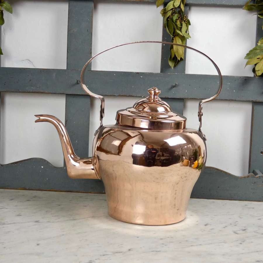 Impressive, French copper kettle