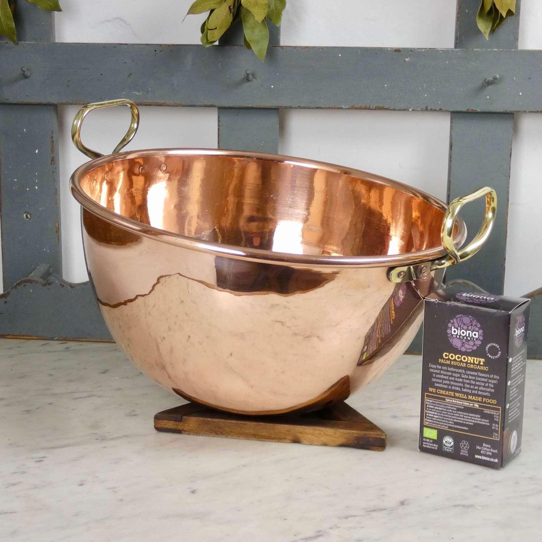 French copper sugar bowl