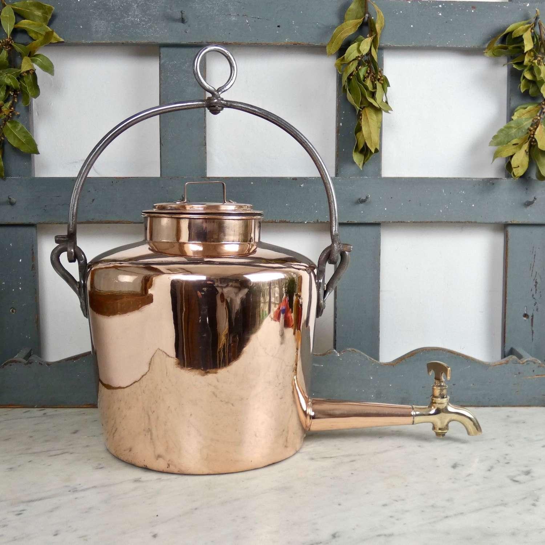 Large copper gypsy kettle