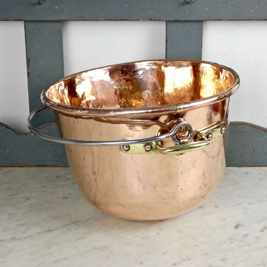 Hanging, copper sugar bowl