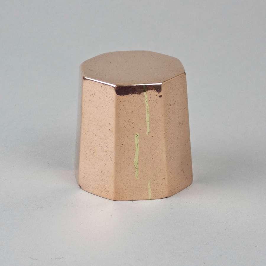 Small, octagonal copper mould