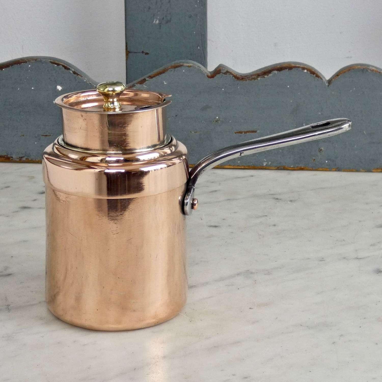 Rare, copper double boiler