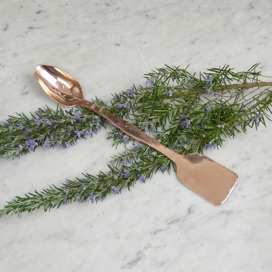 Double ended copper spoon & spatula