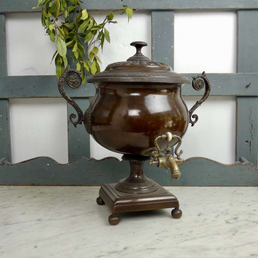 Regency copper samovar