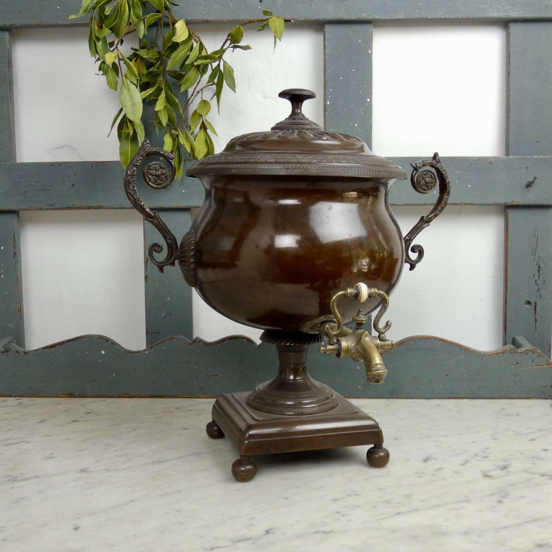Regency copper samovar