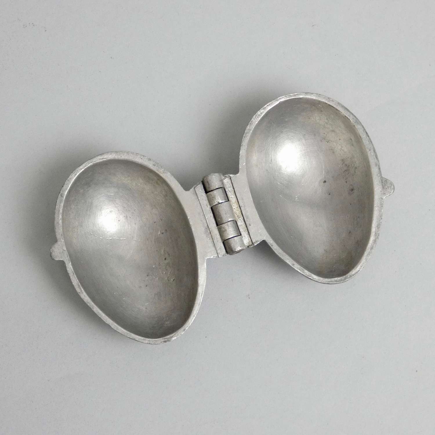 Pewter egg mould